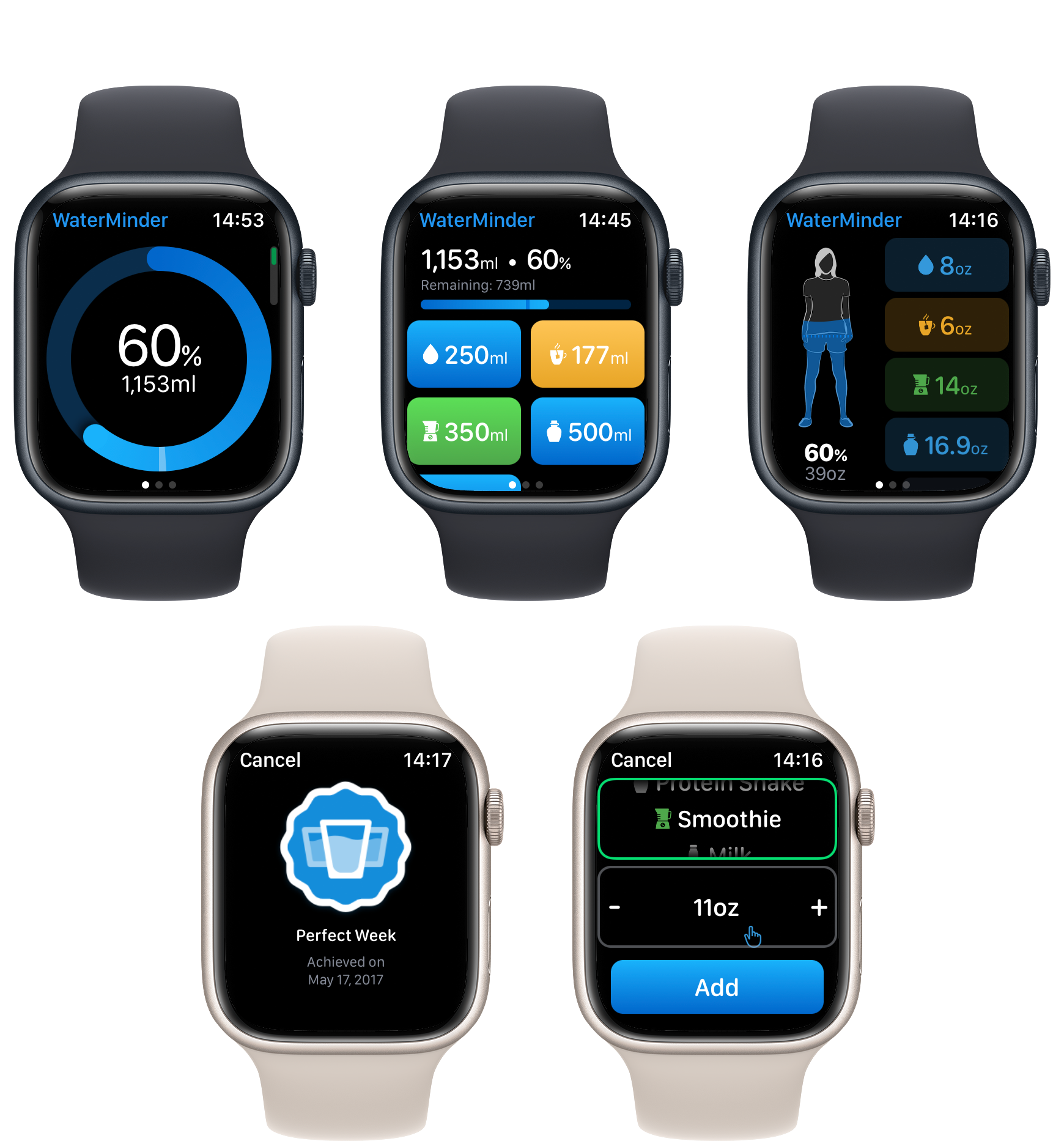 WaterMinder Apple Watch